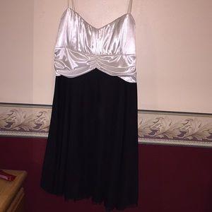 Black and white semi- formal dress